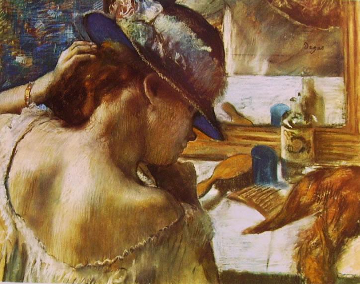 122 Degas - Giovane donna allo specchio