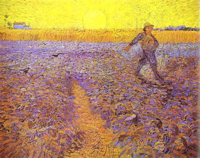 Van Gogh 1888 Semeur et soleil couchant 1